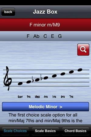 Jazz Box app screen example
