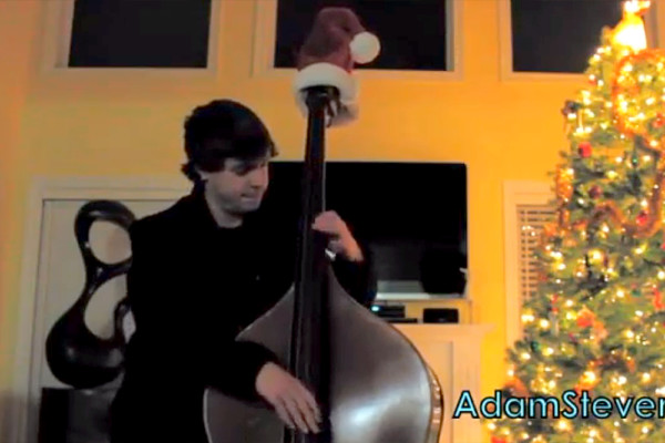 "Adam Stevens: ""Frosty the Snowman"" Solo Bass Jam"