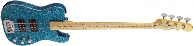 G&L ASAT Tom Hamilton Signature Bass - Turquoise Flake