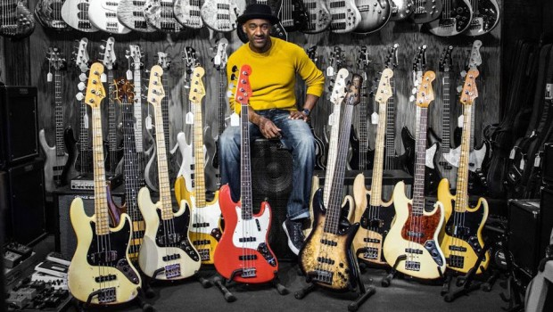Marcus Miller with basses