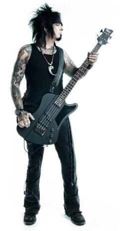 Nikki Sixx with Schecter Signature Bass