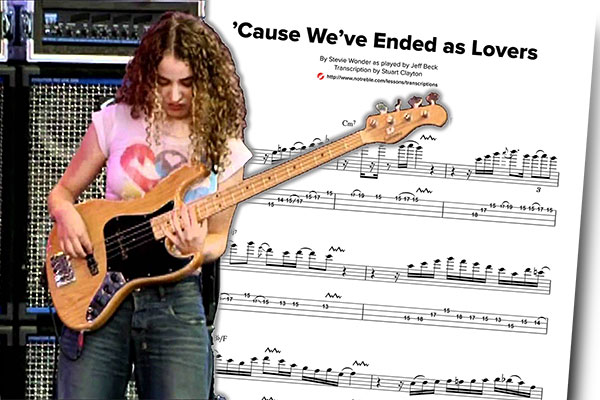 "Bass Transcription: Tal Wilkenfeld's ""Cause We've Ended As Lovers"" Solo"