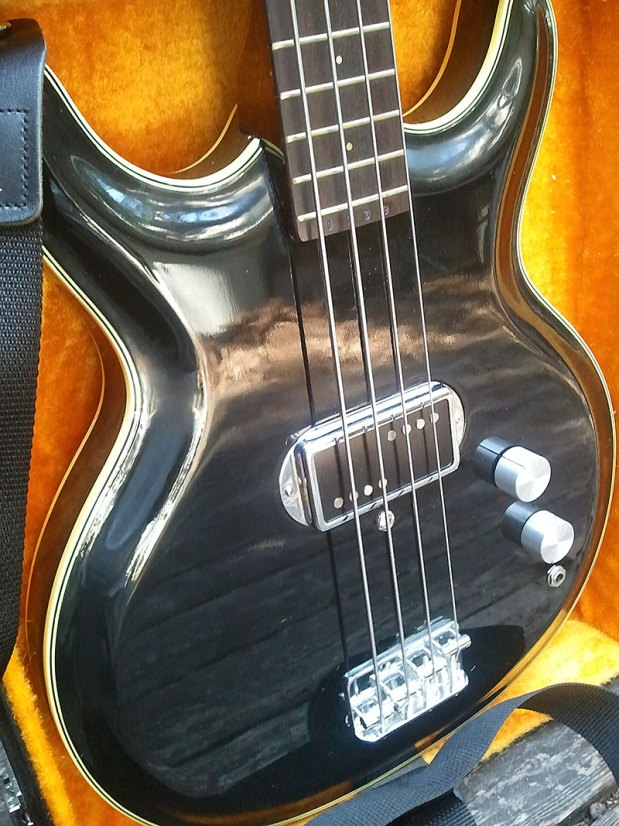 1973 Acoustic Control Corporation Black Widow Bass body in case