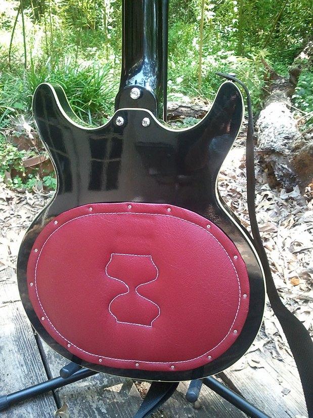 1973 Acoustic Control Corporation Black Widow Bass body back