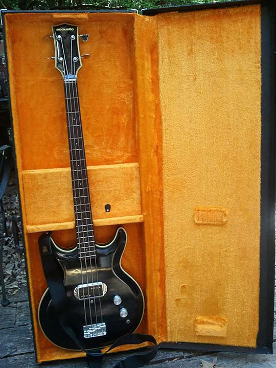 1973 Acoustic Control Corporation Black Widow Bass - in case