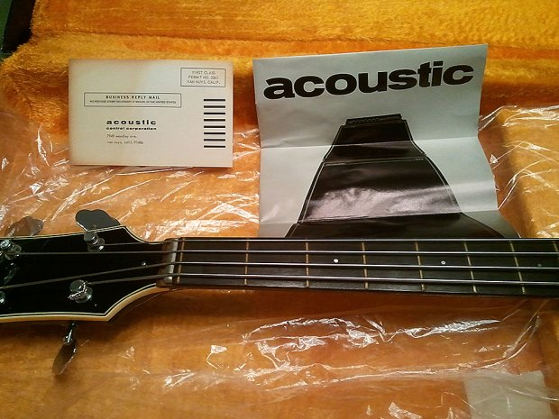 1973 Acoustic Control Corporation Black Widow Bass - manual and warranty card