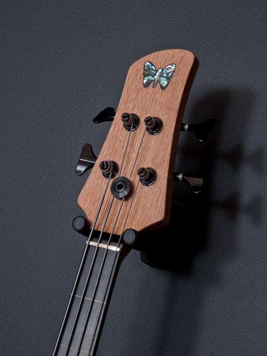 Fodera Monarch 4 Fretless Standard Bass - headstock
