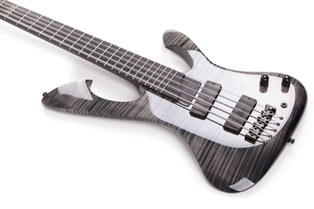 Wahlbrink Kronos Black Ax 5-String Bass - body angle