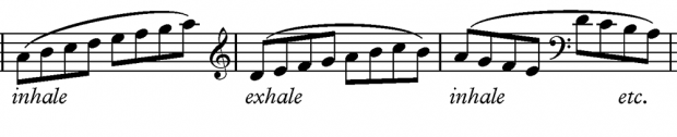 Breathing exercise 3 - for bass players