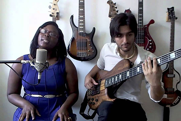 "Andres Rotmistrovsky & Angela Watson: ""Human Nature"" Voice & Bass Duet"