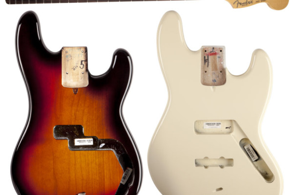 Fender Now Offering Precision and Jazz Bass Replacement Bodies and Necks