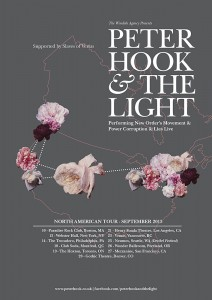 Peter Hook & The Light - 2013 North American Tour Poster