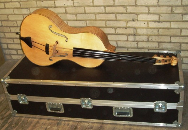 Toby Chennell Arco Acoustic Bass Guitar with case