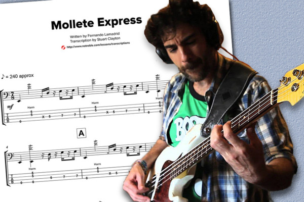 "Bass Transcription: Fernando Lamadrid's ""Mollete Express"""