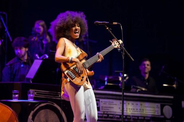 Esperanza Spalding with South Paw Fretless 5-String Bass