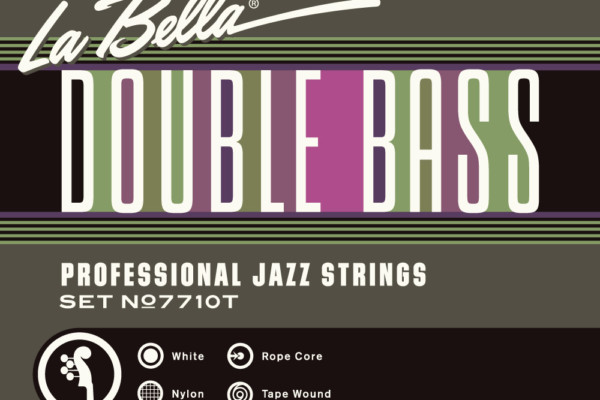 La Bella Introduces 7710T White Nylon Tape Wound Double Bass Strings