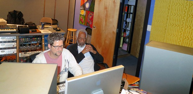 Chuck Rainey and James Waddell in Studio