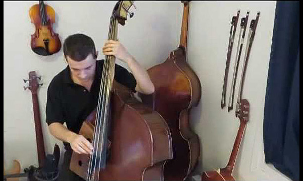 """Olivier Babaz: """"Teen Town"""" on Double Bass and Kalimba"""