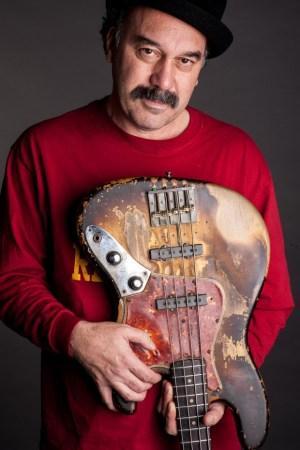 Bobby Vega with Shark Bass