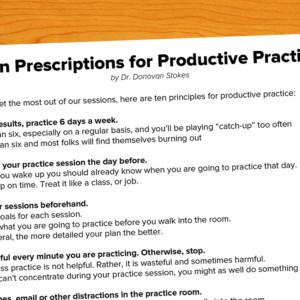 Ten Prescriptions for Productive Practice
