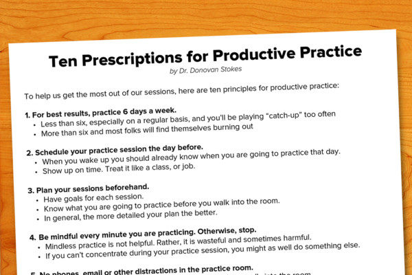 Ten Prescriptions for Productive Practice