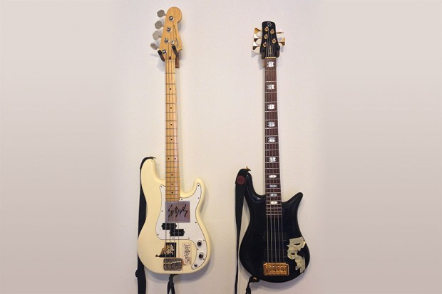Alex Webster's First Precision Bass and Main Spector Bass