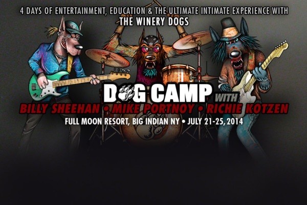 Winery Dogs with Billy Sheehan Announce Dog Camp