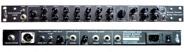 Wounded Paw Effects Black Sheep Bass Preamp