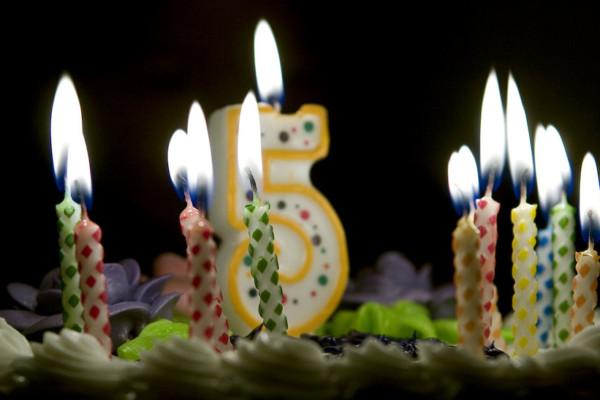 Happy Fifth Birthday, No Treble
