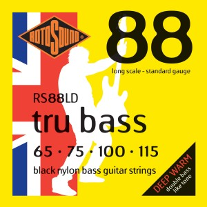 Rotosound Revamps Tru Bass RS88LD Black Nylon Bass Strings