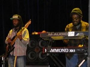 """Aston Barrett, Jr on bass and Aston """"Family Man"""" Barrett on keys"""