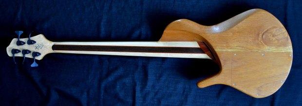 Ella Basses Isaac Singlecut 5-String Bass - Back