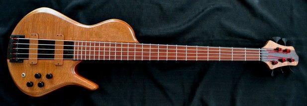 Ella Basses Isaac Singlecut 5-String Bass
