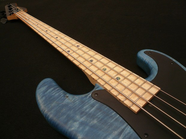 Soame Custom Guitars PJ435 Bass Neck Angle View