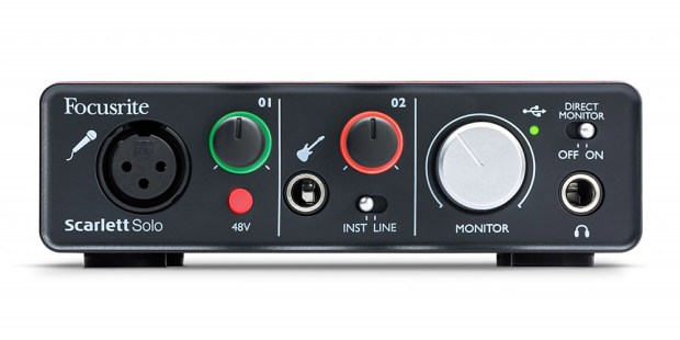 Focusrite Scarlett Solo USB Recording Interface - front
