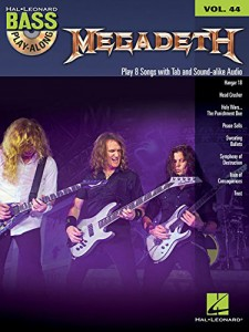 Megadeth: Bass Play-Along Volume 44