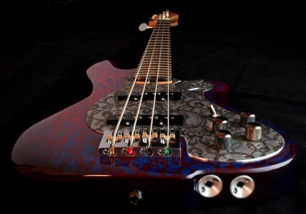 M-Tone Guitars Boki Bass - front, bottom perspective
