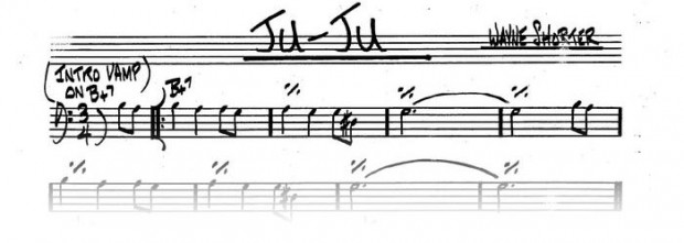 "Wayne Shorter ""Juju"" chart"