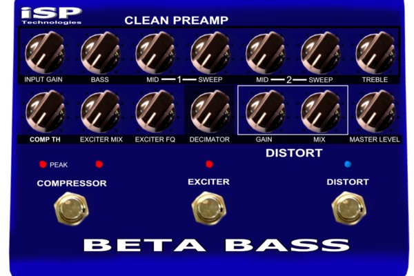 ISP Technologies To Debut Beta Bass Preamp Pedal at NAMM