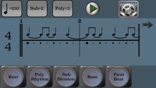 PolyRhythmApp - Screen Ex 1