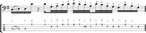 "Bass Transcription: Federico Malaman's ""Speed Demon"" - alternate"