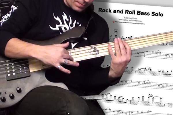 "Bass Transcription: L?rincz Viktor's ""Rock and Roll Bass Solo"""
