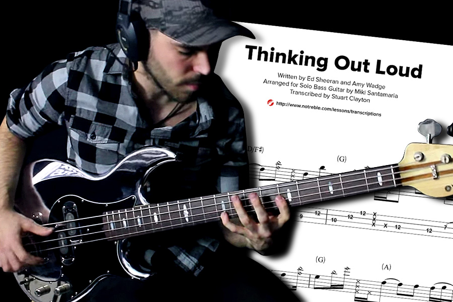 "Bass Transcription: Miki Santamaria's ""Thinking Out Loud"