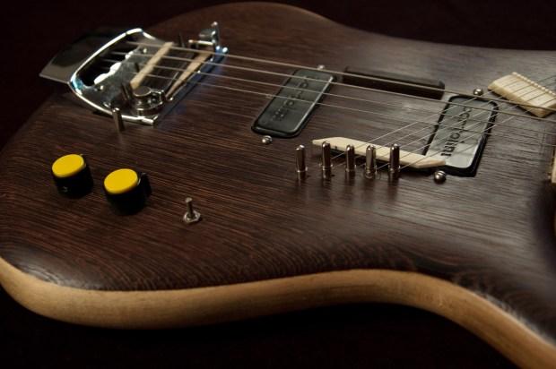 Modified Rickenbacker 4001 Piccolo Sitar Bass Closeup