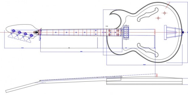 Eastwood Saturn IV Bass Schematic