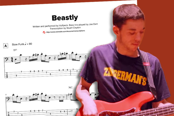 "Bass Transcription: Joe Dart's Bass Line on Vulfpeck's ""Beastly"""