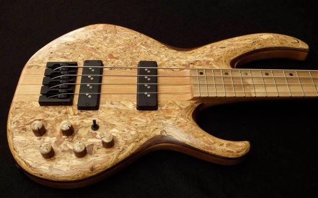 Lea Bass Guitars Dumpster Bass Body Angled