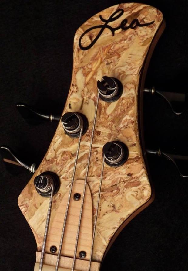 Lea Bass Guitars Dumpster Bass Headstock