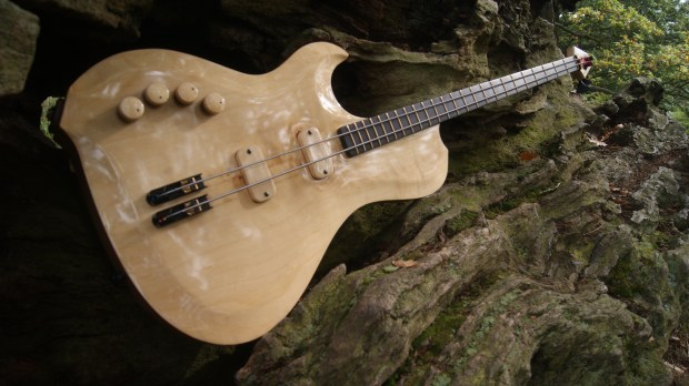 Letts Basses Yves Carbonne Signature 2-String Bass Body Closeup