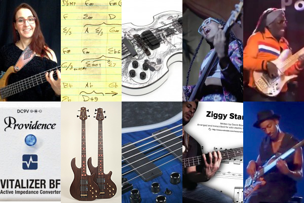 Weekly Top 10: Talking Technique, Approaching Composing, New Bass Gear, Top Videos, Bowie for Solo Bass Transcription and More
